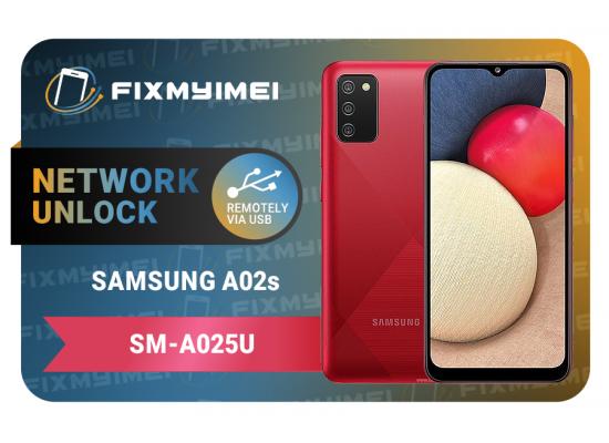 A025U A02s Samsung Instant USB Carrier Unlock